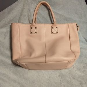 Gap Large Soft Pink Leather Tote